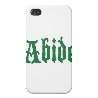 Abide (the green edtion) iPhone 4 cases