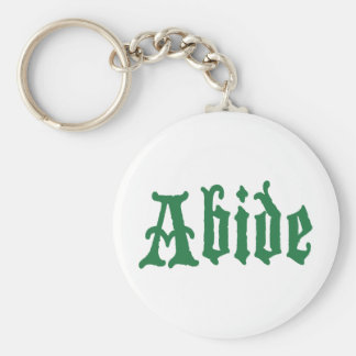 Abide (the green edtion) keychain