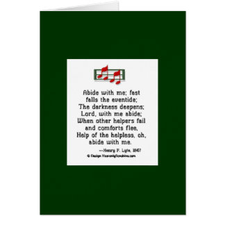 Abide With Me Card