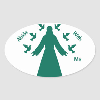 Abide With Me Jesus Oval Sticker