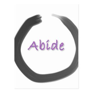 Abide Zen Buddhist Enso Circle Postcard