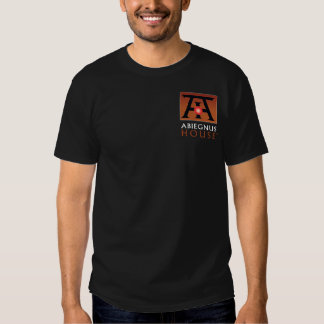 Abiegnus House Color Logo on Black Apparel and Tee Shirts