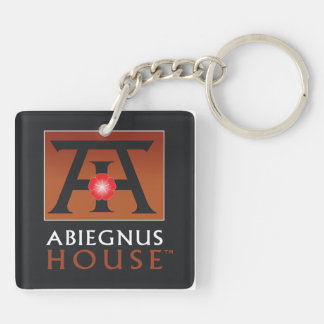 Abiegnus House Square Acrylic Keychain (2-sided)