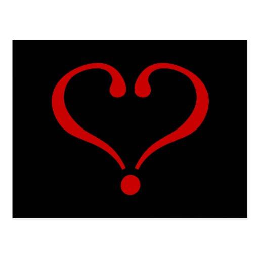 Abierto Corazón rojo y amor en día de San Valentín Tarjeta Postal