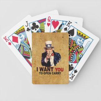 Abierto lleve barajas de cartas