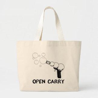 abierto lleve el arma de la burbuja bolsa tela grande