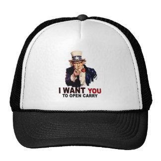 Abierto lleve gorras de camionero