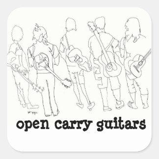 abierto lleve las guitarras colcomanias cuadradass