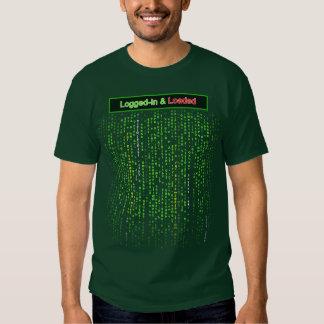 Abierto una sesión y cargado - camiseta del color remeras