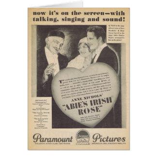 Abie's Irish Rose movie ad Card