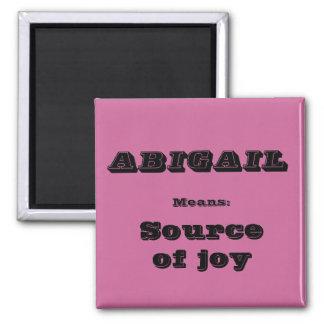 Abigail 2 Inch Square Magnet