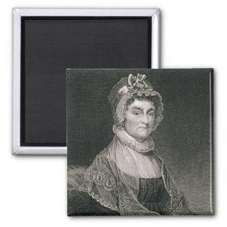 Abigail Adams, engraved by G.F. Storm (fl.c.1834) 2 Inch Square Magnet