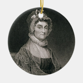 Abigail Adams, engraved by G.F. Storm (fl.c.1834) Ceramic Ornament