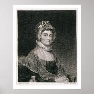 Abigail Adams, grabado por G.F. Storm (fl.c.1834) Posters