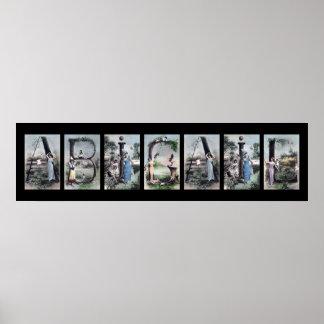 ABIGAIL Alphabet Letter Name Art Posters