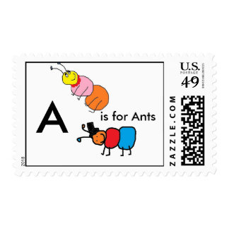 abigail ant, AURTHUR ANT, A, is for Ants Stamp
