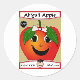 Abigail Apple sp Classic Round Sticker