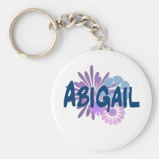 Abigail Basic Round Button Keychain