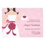 Abigail Bridal Shower invitation pink