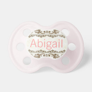 """""""Abigail"""" Custom Personalized Name Pacifier BooginHead Pacifier"""