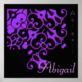 Abigail Designer Name II Poster Posters