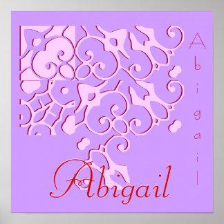 Abigail Designer Name Poster Poster