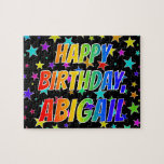 "[ Thumbnail: ""Abigail"" First Name, Fun ""Happy Birthday"" Jigsaw Puzzle ]"