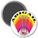 ABIGAIL Girl Name on Round Magnet