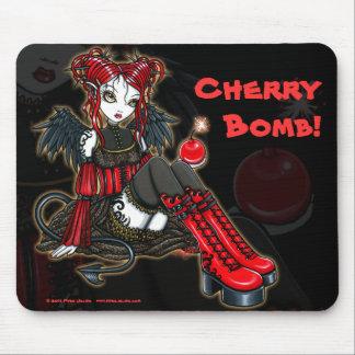 """Abigail"" Gothic Cherrybomb Devil Fairy Mousepad"