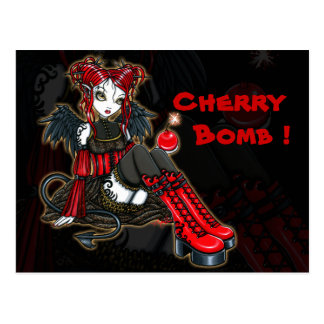 """Abigail"" Gothic Fairy Cherrybomb Angel Postcard"