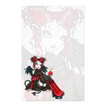 """""""Abigail"""" Gothic Fairy Cherrybomb Angel Stationery"""
