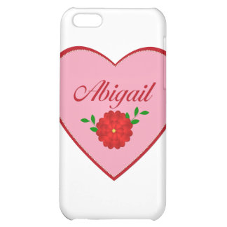 Abigail (heart) iPhone 5C cases