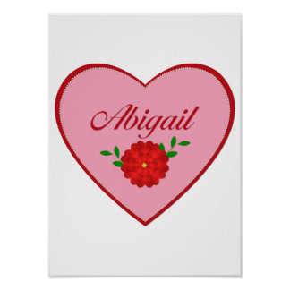 Abigail heart posters