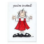 """abigail love party invitation 5"""" x 7"""" invitation card"""
