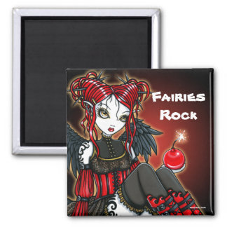 Abigail Red Gothic Fire Fairy Angel Magnet