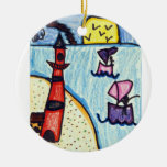 Abigail Salabarria Double-Sided Ceramic Round Christmas Ornament