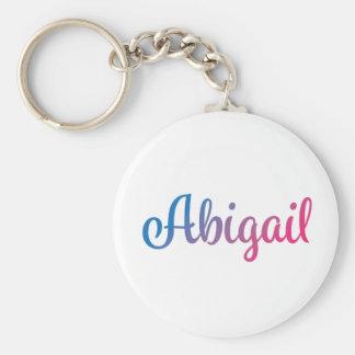 Abigail Stylish Cursive Keychain
