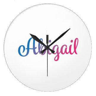Abigail Stylish Cursive Large Clock