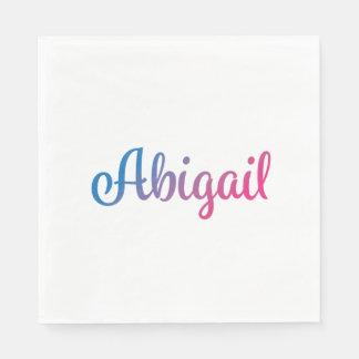 Abigail Stylish Cursive Napkin