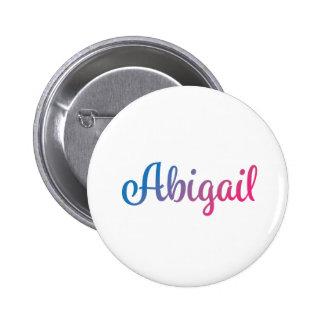 Abigail Stylish Cursive Pinback Button