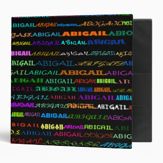 "Abigail Text Design I 2"" Binder"