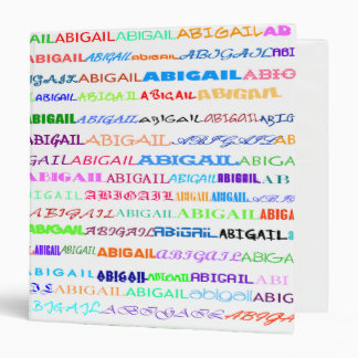 "Abigail Text Design II 1.5"" Binder"