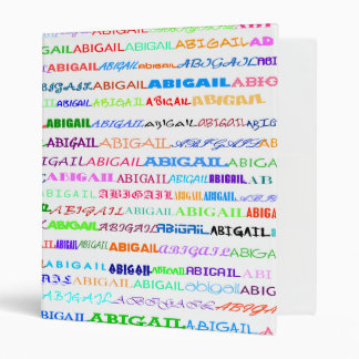 "Abigail Text Design II 1"" Binder"
