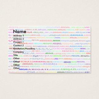 Abigail Text Design II Business Card 1