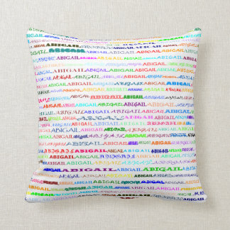 Abigail Text Design II Throw Pillow