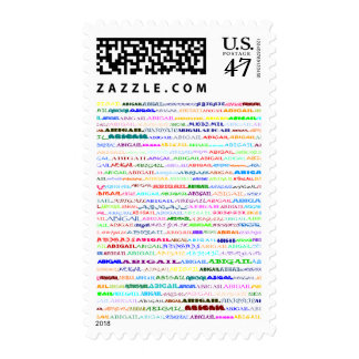 Abigail Text Design II Vertical Postage