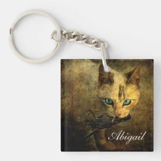 Abigail with prey keychain