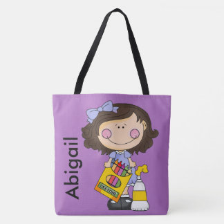 Abigail's Crayon Personalized Tote