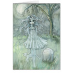 Abigail's Ghost Halloween Card Paranormal Cat