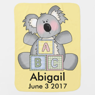Abigail's Personalized Koala Stroller Blanket